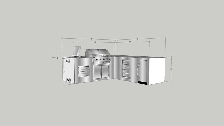 Jackson Grills L Shaped Outdoor Kitchen
