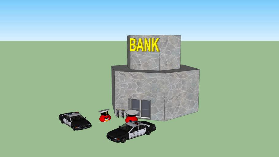 Angry bird bank robbery