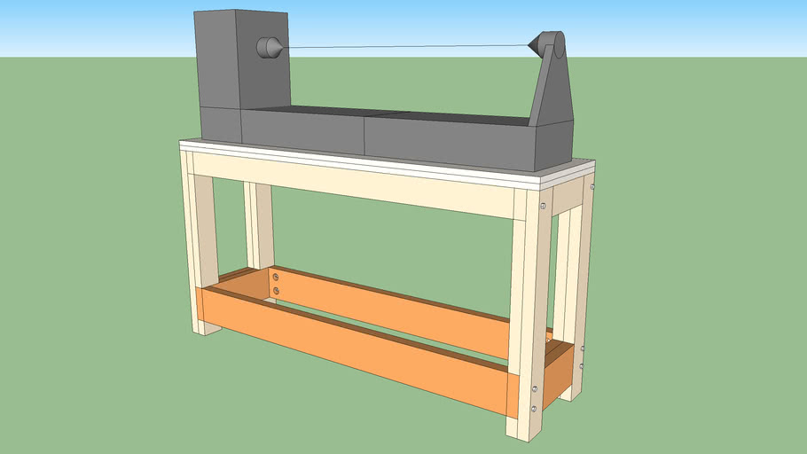 Basic workbench or lathe stand
