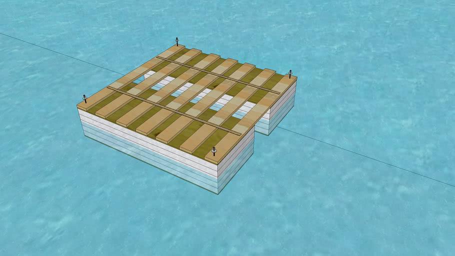 Styrofoam Modular Raft