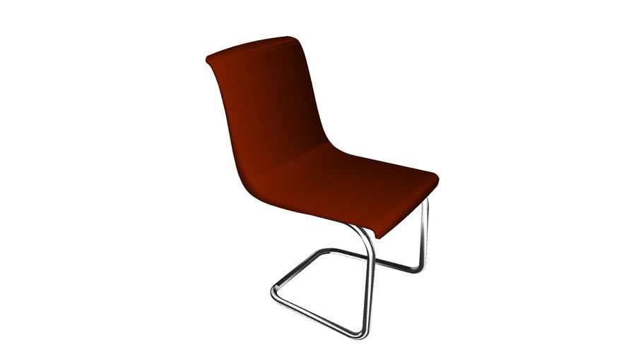 chaise design couleur rouille