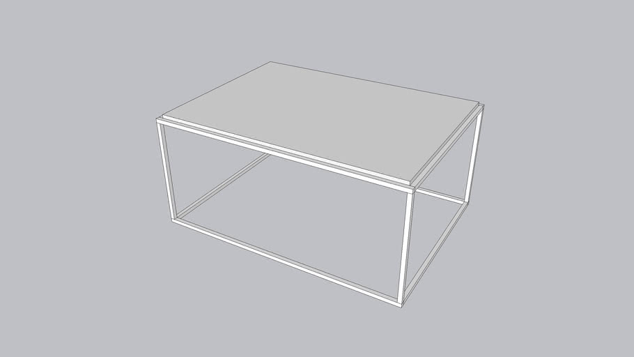 Framed L_Coffee table_Bright White