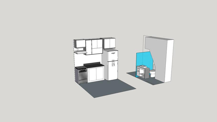 Flavia e Jonatham - Cozinha e banheiro 16112020