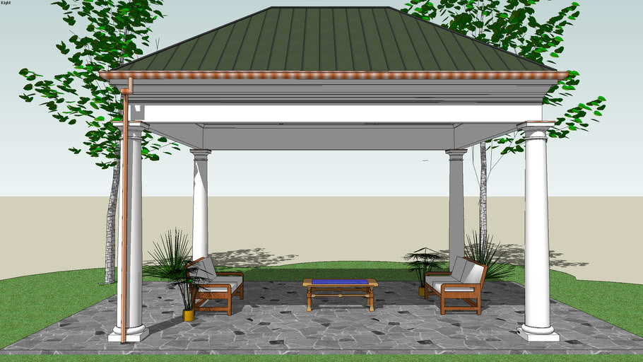 FineHouse Pavilion with Hipped Roof & Ridge