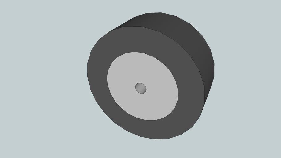 "Solarbotics 1-1/4"" Wheel, Internal Set-screw"