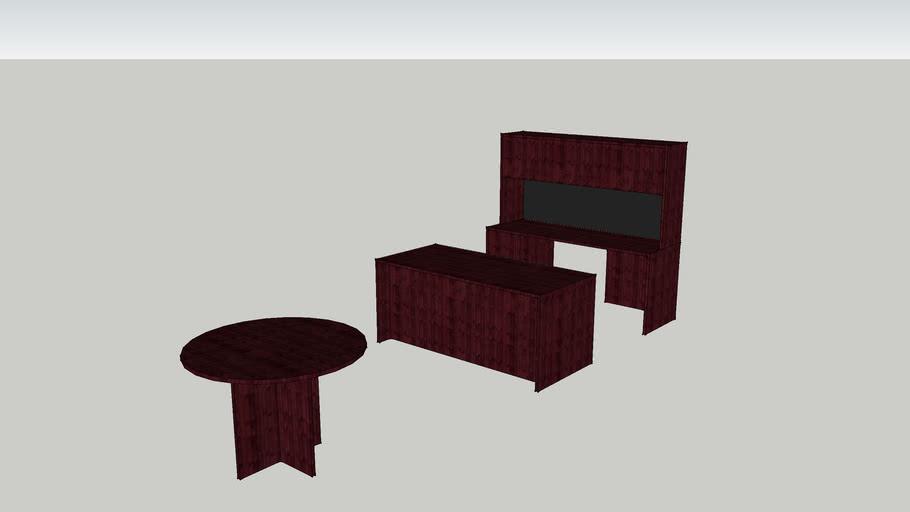 Dark Cherry Executive Office Furniture