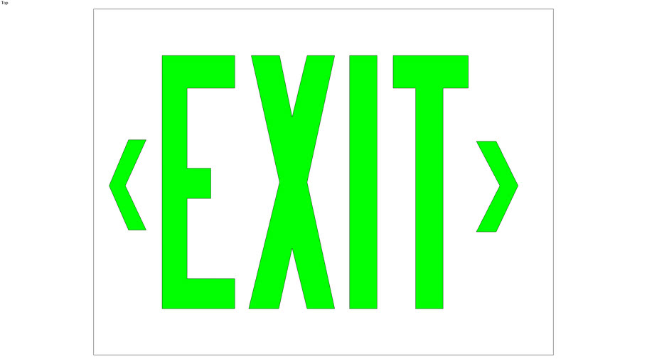 Nicko EO Exit Sign Green