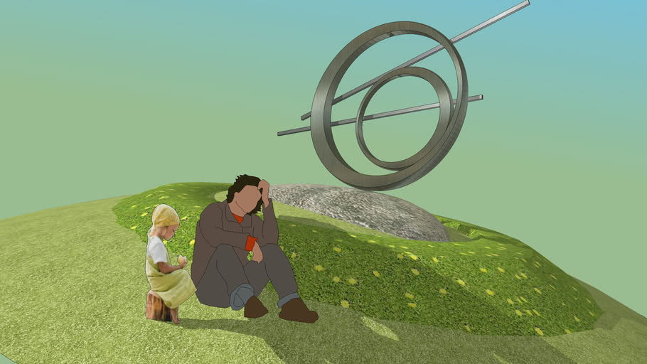 Motion of Circle - Sculpture v4