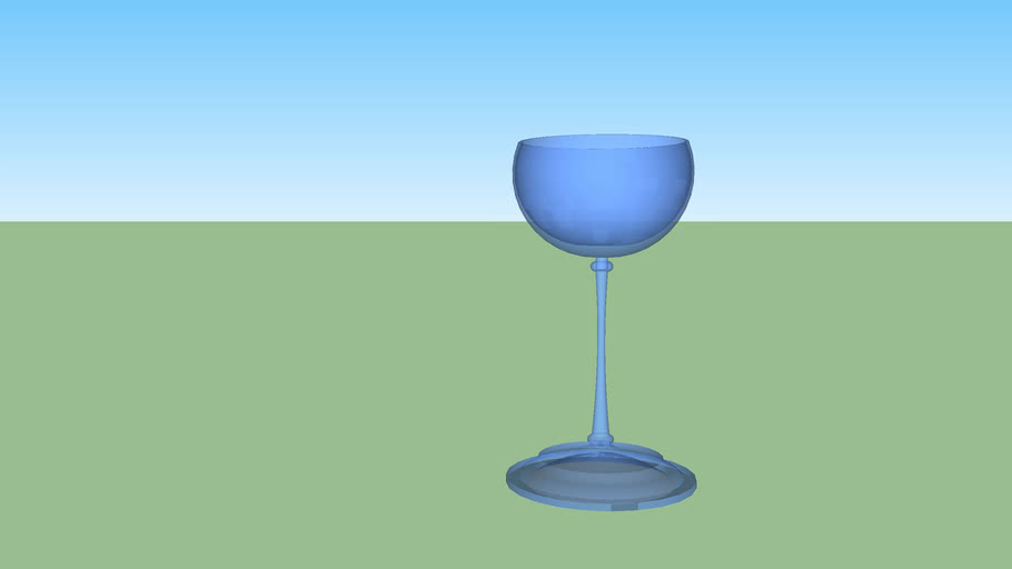 Crystal blue cup