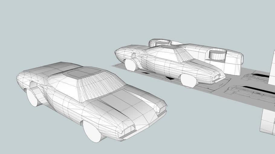 Retro Sci Fi Car - Unfinished