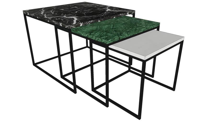 81831 Side Table East Coast 3-Set