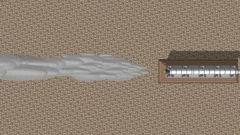 Solid Rocket Booster Twilight Render Rocket Blast/Smoke Plume