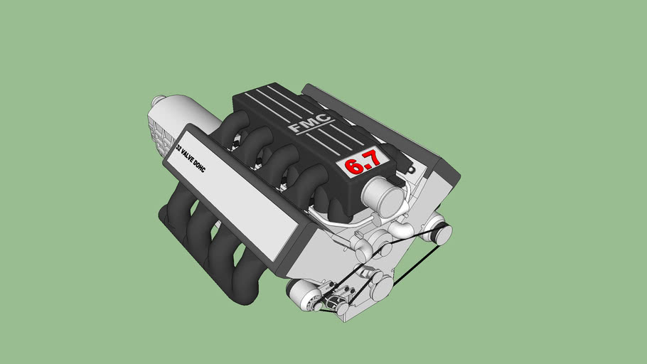FMC 6.7 Liter V8 Engine
