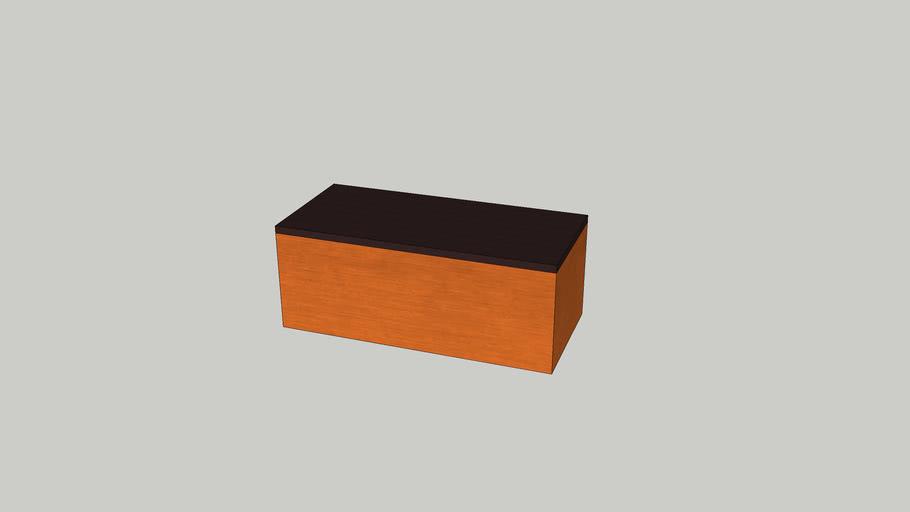 Bloque metálico color óxido de pilar