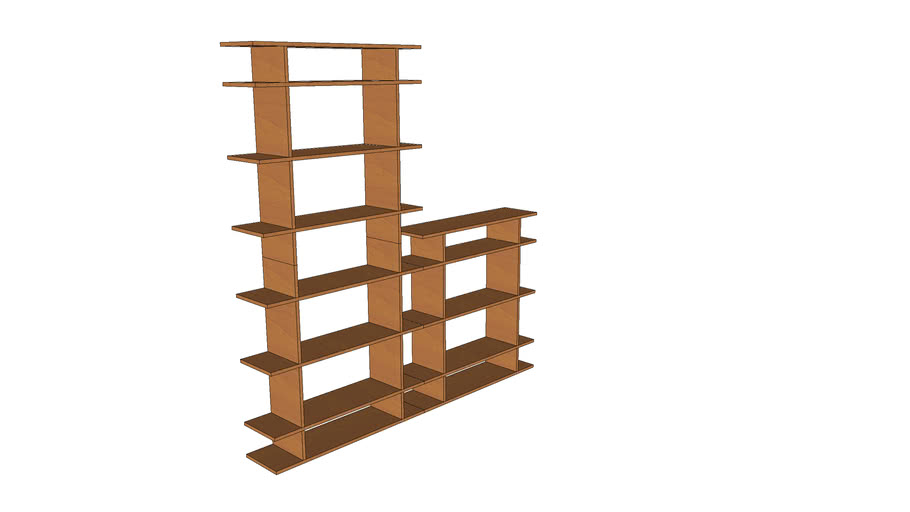 Smart Shelves 6' Wide 2-Tier Shelving from SmartFurniture.com 0606s003