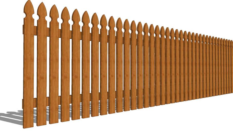 Wooden picket fence / Płotek drewniany wiejski