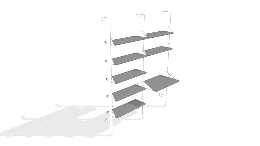 Branch 2 - Desk Shelving Unit by Gus* Modern