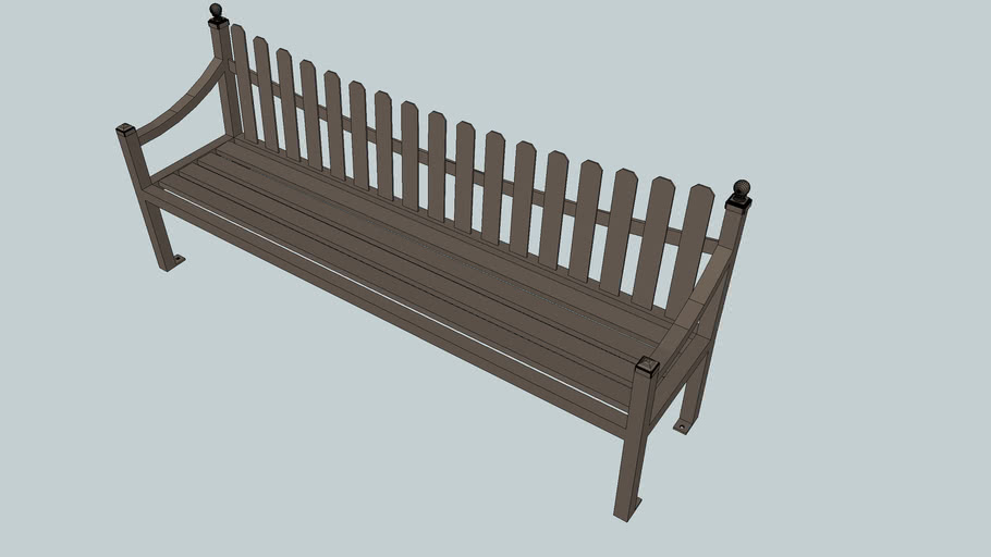 Fenwick 8' Bench with Back
