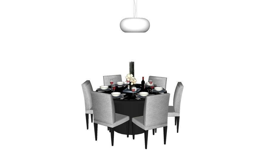 sala de jantar redonda