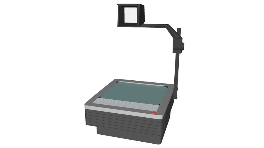 Overhead Projector - Detailed