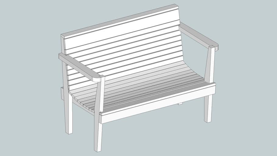 Small wood garden bench