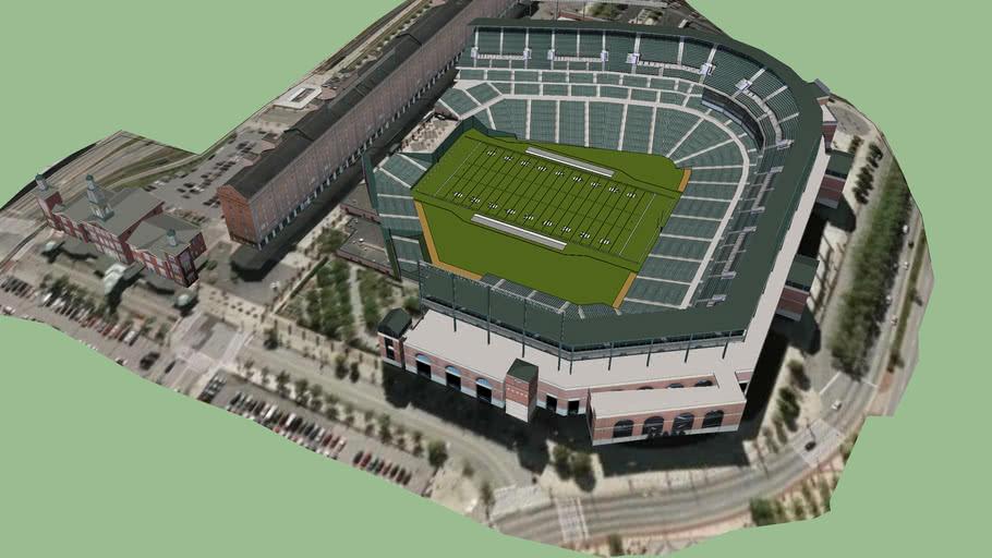 Camden Yards Football Config 3d Warehouse