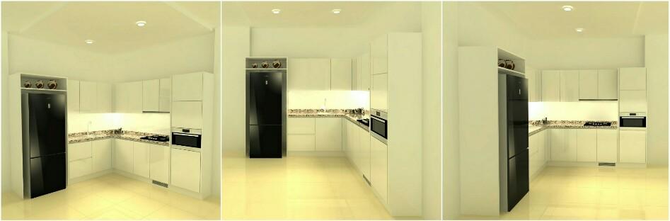 Kitchen Set Mdf White Lacquer High Gloss 3d Warehouse