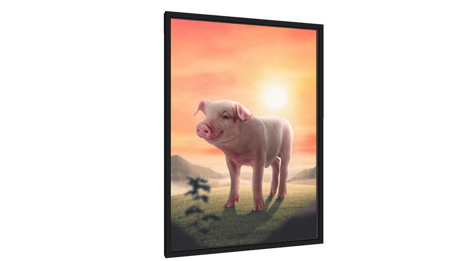 Quadro Piggy - Galeria9, por Fitrix