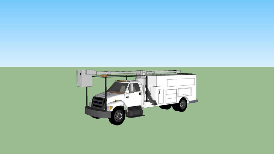 cherry picker utility truck