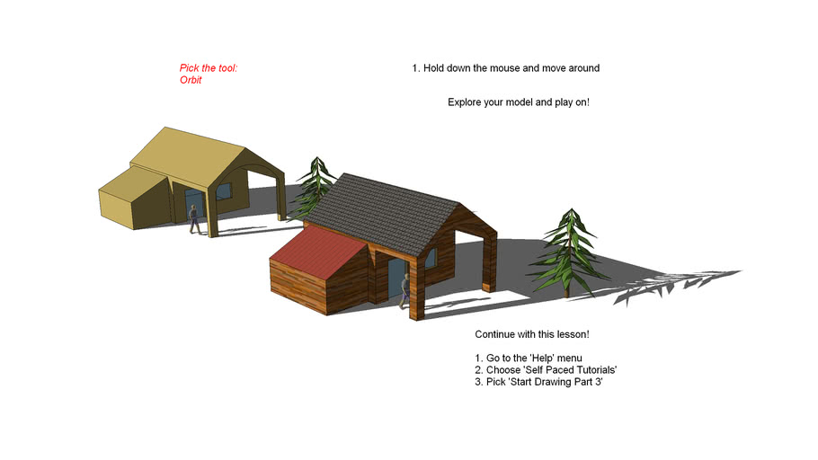 House with tutorial