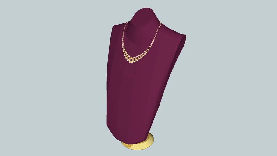 """Ladies Gold and Diamond Necklace.... made to match  """"SEKSY""""...  Watch"""