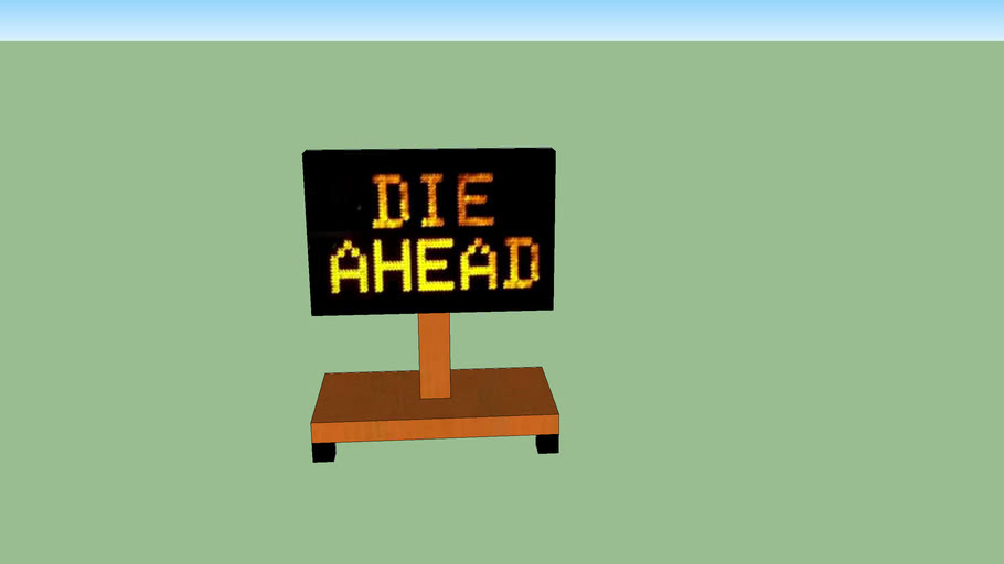 Road Sign lowpoly 1