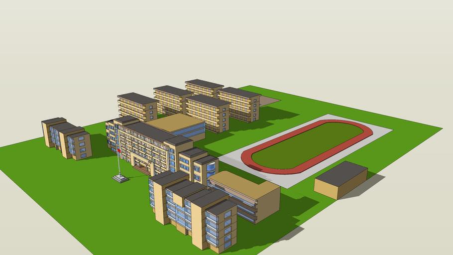 学校模型图