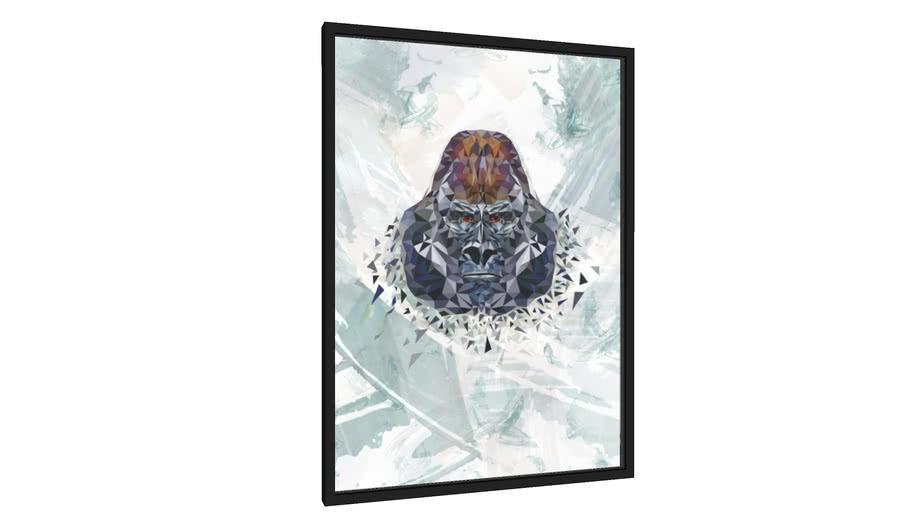Quadro Gorila Lowpoly - Galeria9, por Iury Granja
