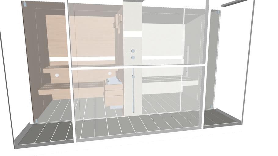 Effegibi Logica Twin Mid Cloud - sauna and Hammam in a single unit.