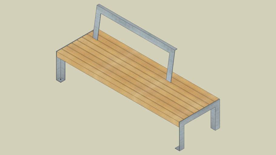 A11 50 3 40 bench without backrest for public use 190/62