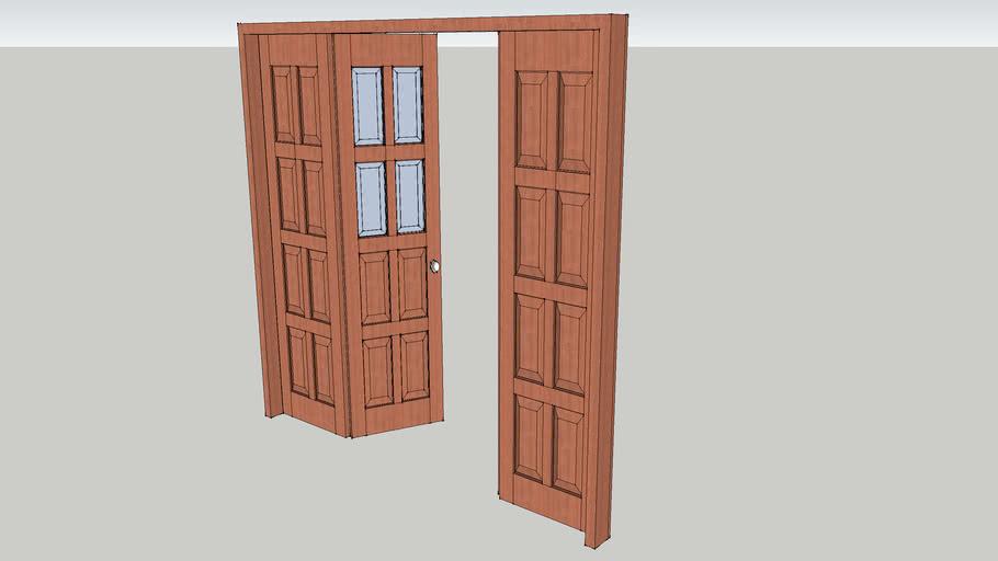 cua go kinh 4 canh _ wood-glass door 2400x2400_pkt