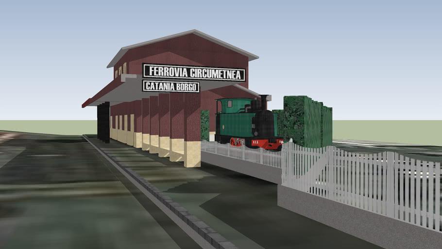 Ferrovia Circumetnea, Stazione Borgo di Catania.