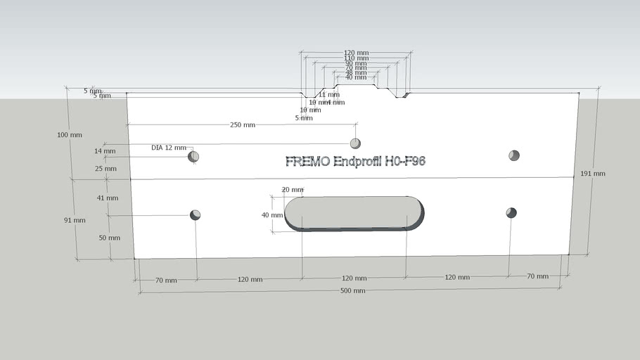 FREMO Endprofil H0-F96