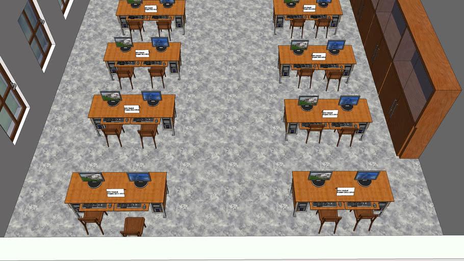 SOU Hluboš návrh počítačové učebny