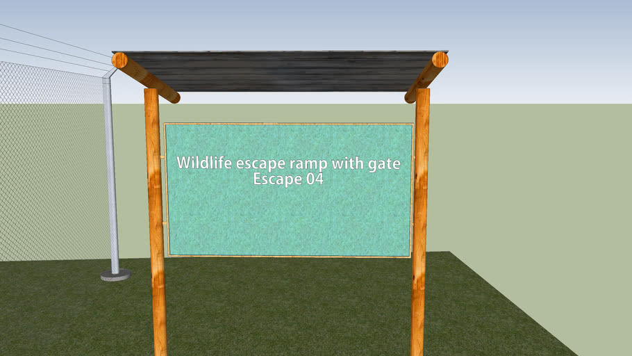 Escape ramp witg gate (model nº 04)