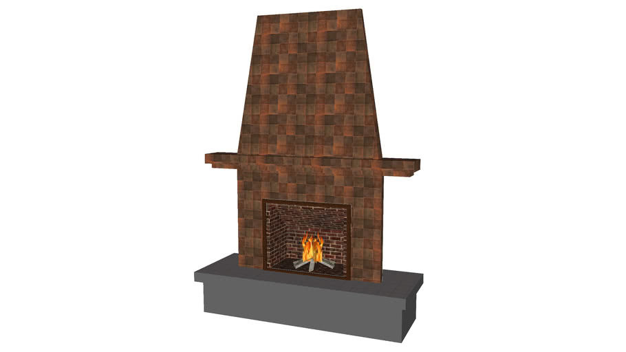 Traditional Fireplace - Detailed