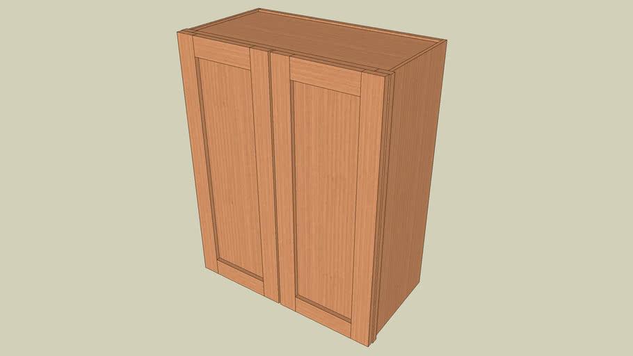 Wall_Cabinet_2Door_30Hx24Wx12D_shaker