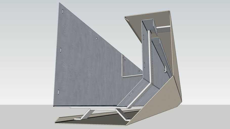 Contemporary 8 Concealed Gutter 3d Warehouse