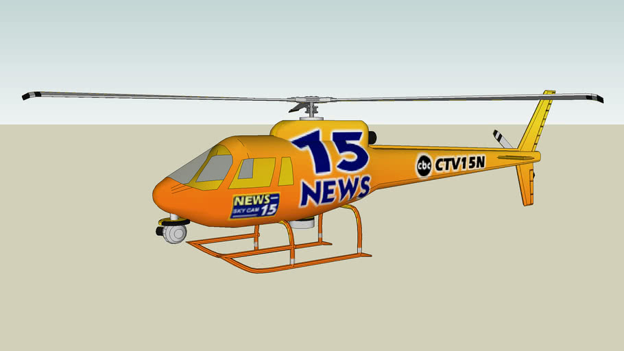 CBS TV Helicopter