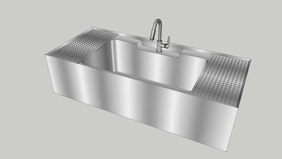 1200新式水槽(含滴水板)