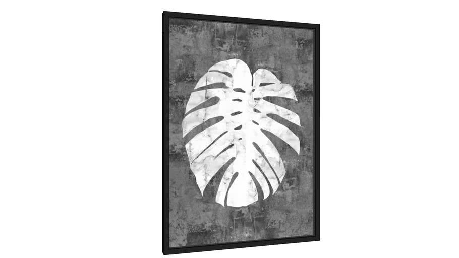 Quadro Folha branca - Galeria9, por Arte Natural