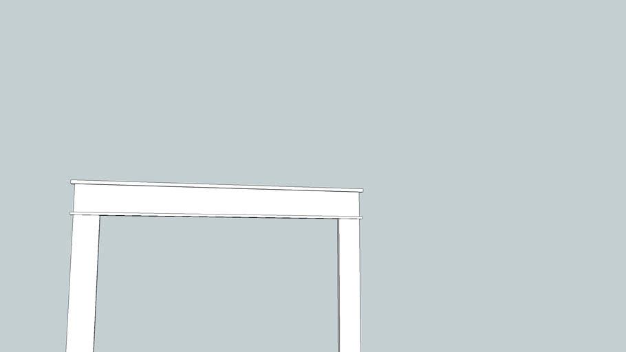 Kitchen Window Trim simple one-piece pediment Willie Sandry Designs