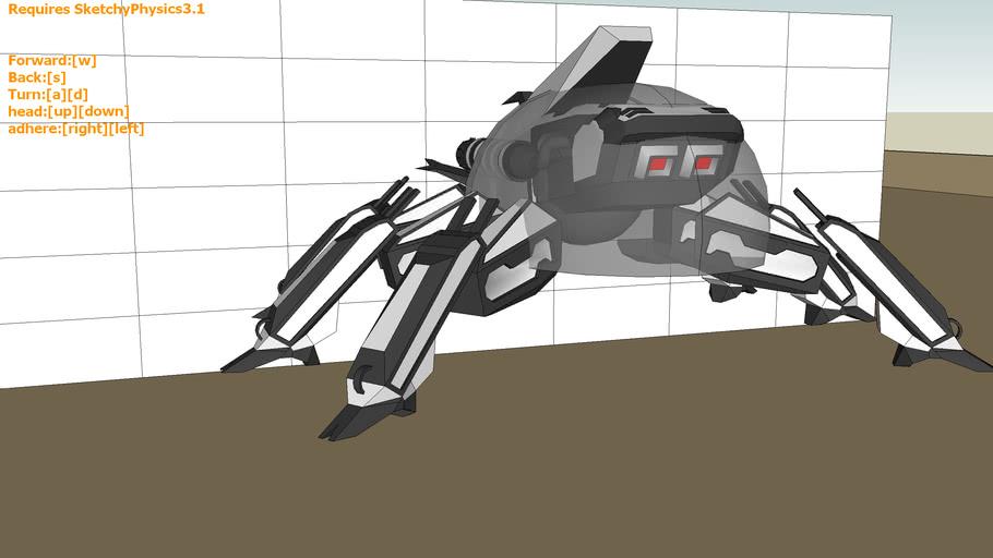 SketchyPhysics3.1 walking beetle robot