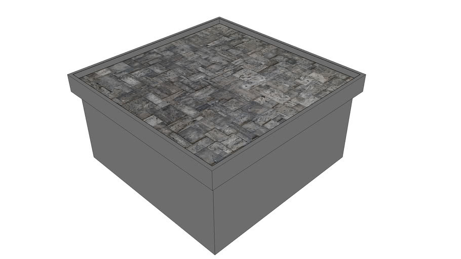 Black Cube marble coffee table